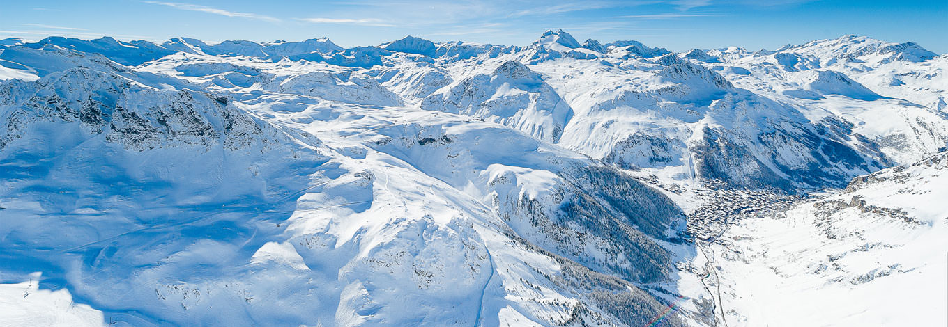 val d'isere aerial view