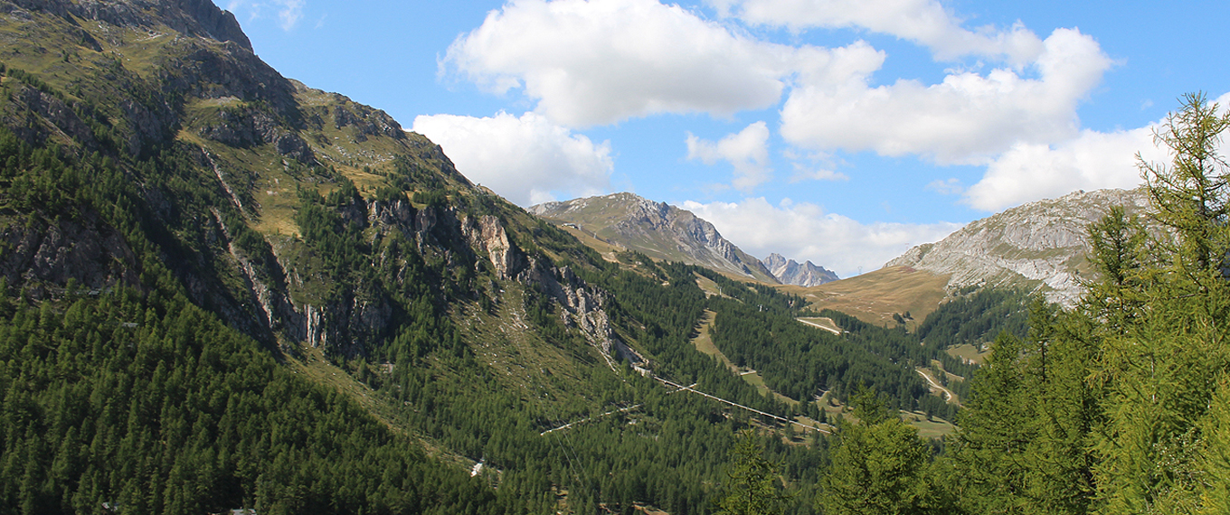 view of val d'isere from Orienteering race