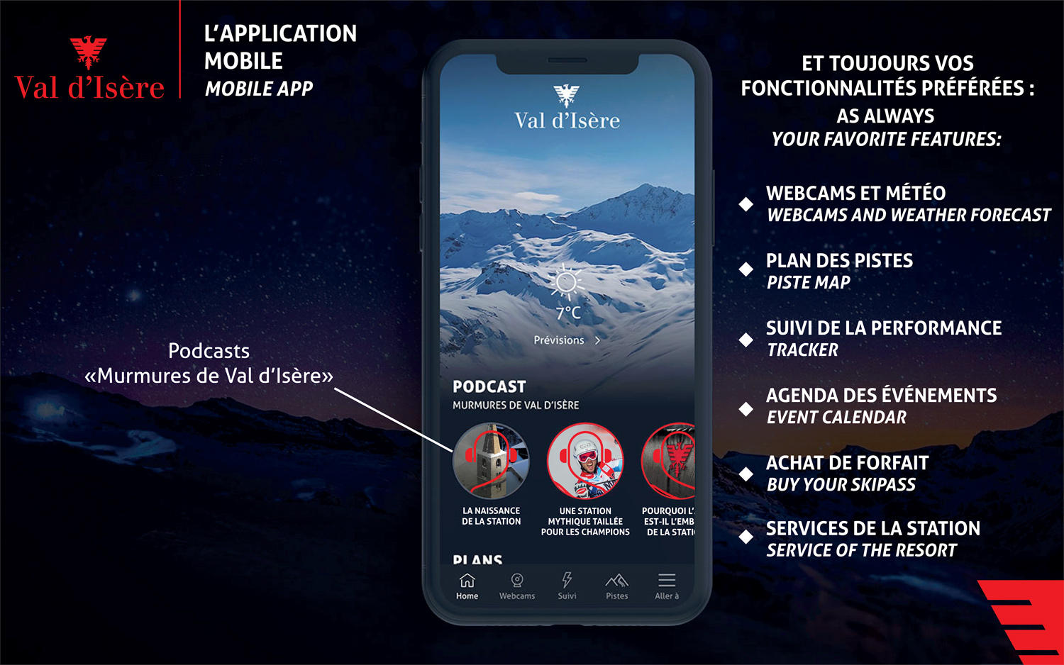 application val d'isere