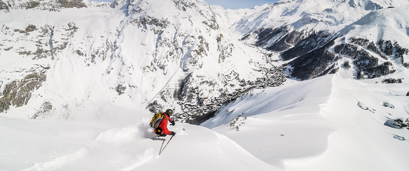 ski ride in val d'isere