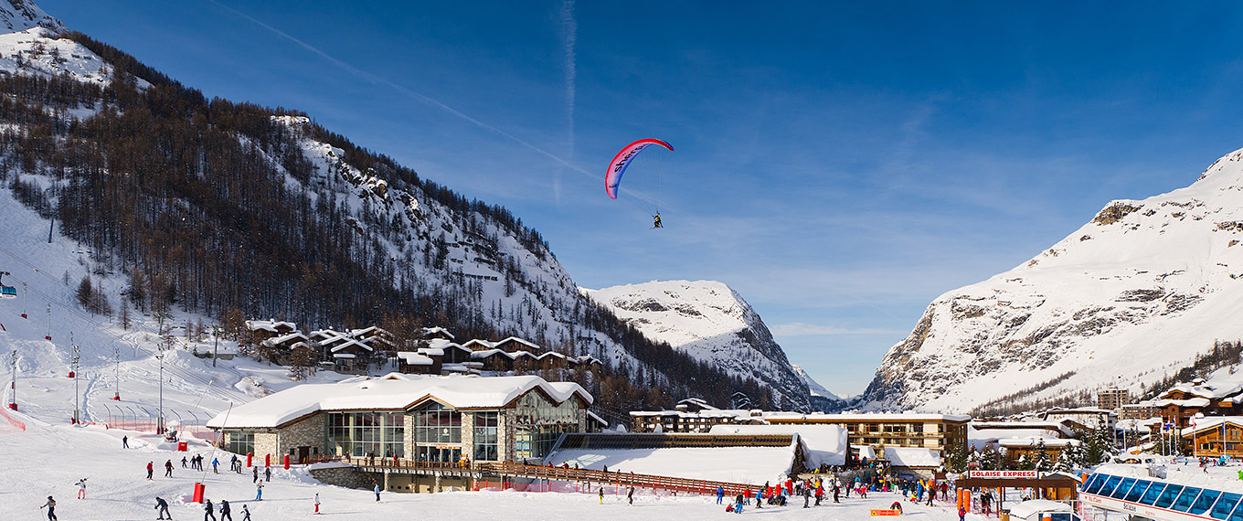 view of val d'isere from Parapente