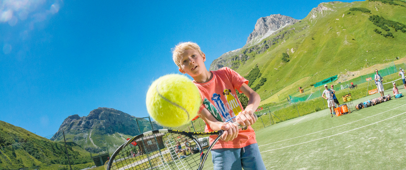 view of val d'isere from Tennis