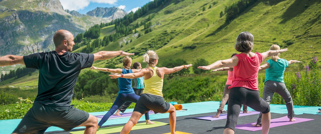 view of val d'isere from Yoga