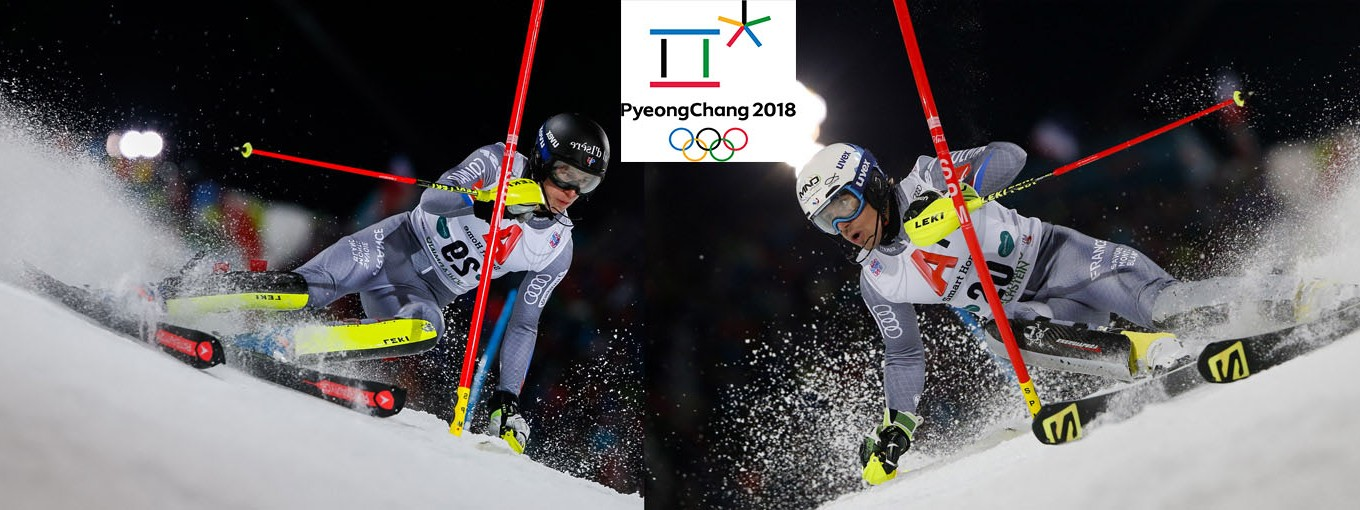 Victor Muffat-Jeandet and Clément Noel at the PyeongChang Olympic Games