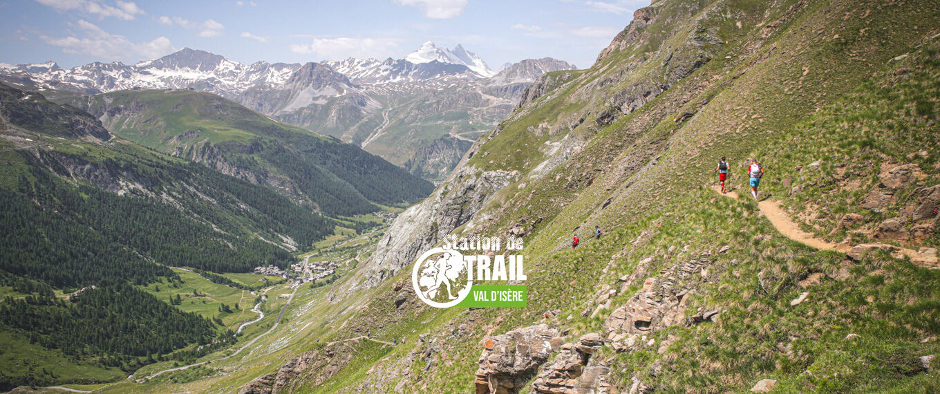 view of val d'isere from Trail