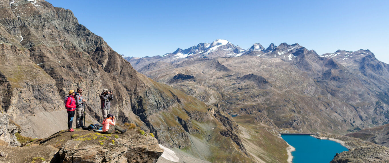 view of val d'isere from Trek Nature Grand Paradis Vanoise